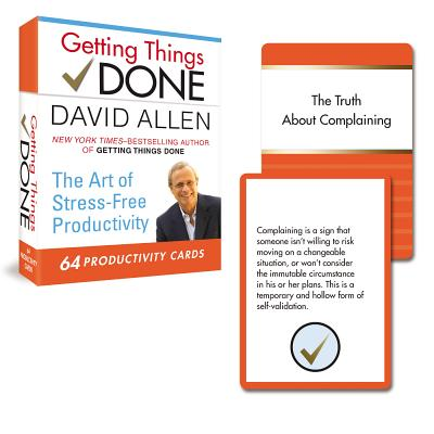 Getting Things Done Productivity Cards By Allen, David
